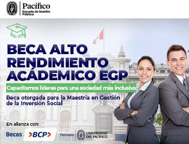 Beca Alto Rendimiento Académico EGP - Maestría en Gestión de la Inversión Social