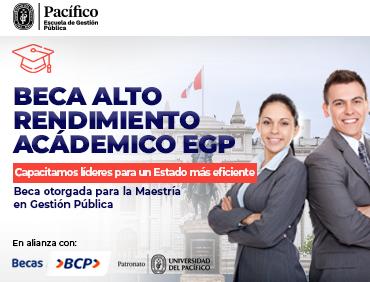 Beca Alto Rendimiento Académico EGP - Maestría en Gestión Pública